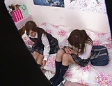 Naughty threesome on cam with Yui Saotome and  Moa Hoshizora picture 10