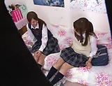 Naughty threesome on cam with Yui Saotome and  Moa Hoshizora picture 11