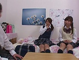 Naughty threesome on cam with Yui Saotome and  Moa Hoshizora picture 15