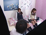 Naughty threesome on cam with Yui Saotome and  Moa Hoshizora picture 2