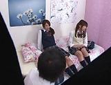 Naughty threesome on cam with Yui Saotome and  Moa Hoshizora