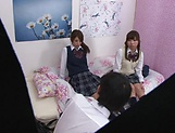 Naughty threesome on cam with Yui Saotome and  Moa Hoshizora picture 3