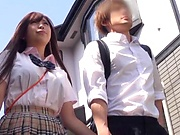Sizzling hot Asian chick screwed good in class