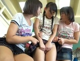 Nude Asian schoolgirls Yuri Shinomiya and her friends enjoys hard dicks picture 11