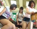 Nude Asian schoolgirls Yuri Shinomiya and her friends enjoys hard dicks picture 14