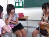 Nude Asian schoolgirls Yuri Shinomiya and her friends enjoys hard dicks