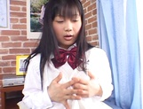 Amateur schoolgirl plays with pussy in hot solo picture 11