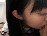 Petite Asian schoolgirl in white panties sucks and rides rod picture 14