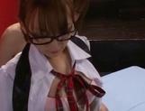 Japanese AV model is a schoolgirl who loves feeling cock in her cherry picture 11
