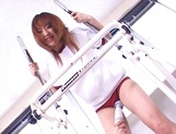 Mao Andoh enjoys getting toyed well in the gym picture 11