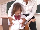 Shameless teen girl Miyu Hoshino rides cock of her horny classmate picture 12
