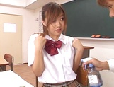 Shameless teen girl Miyu Hoshino rides cock of her horny classmate