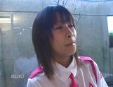 Amateur sex video with schoolgirl, Aika Hoshizaki picture 14