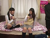 Yui Saotome, and Moa Hoshizora in nasty threesome fucking picture 10