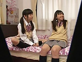Yui Saotome, and Moa Hoshizora in nasty threesome fucking picture 12
