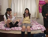 Yui Saotome, and Moa Hoshizora in nasty threesome fucking picture 13