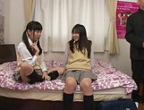 Yui Saotome, and Moa Hoshizora in nasty threesome fucking picture 14