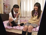 Yui Saotome, and Moa Hoshizora in nasty threesome fucking picture 15