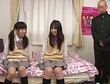 Yui Saotome, and Moa Hoshizora in nasty threesome fucking picture 2