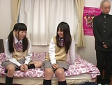 Yui Saotome, and Moa Hoshizora in nasty threesome fucking picture 3