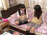 Yui Saotome, and Moa Hoshizora in nasty threesome fucking