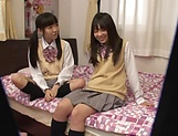 Yui Saotome, and Moa Hoshizora in nasty threesome fucking picture 7