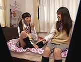 Yui Saotome, and Moa Hoshizora in nasty threesome fucking picture 9