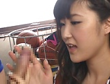 Harukawa Sesera loves handling huge hard cocks picture 13