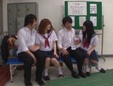 Candy ass schoolgirls enjoy oral sex and give cock riding picture 5