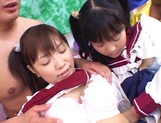 Foursome action with two sleazy Asian schoolgirls picture 13
