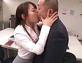 Sexy Asian lady blowing her boss really well picture 11