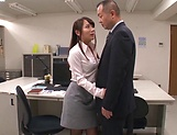 Sexy Asian lady blowing her boss really well