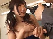 Harukawa Sesera in raunchy toy session indoors