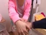 Schoolgirl Nanami Kawakami gets jizz on face after a great oral