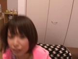 Schoolgirl Nanami Kawakami gets jizz on face after a great oral picture 12