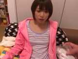 Schoolgirl Nanami Kawakami gets jizz on face after a great oral picture 13