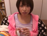 Schoolgirl Nanami Kawakami gets jizz on face after a great oral picture 14