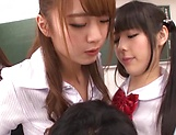 Sizzling hot group sex with Asian schoolgirls picture 11