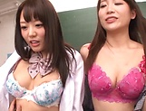 Sizzling hot group sex with Asian schoolgirls picture 12