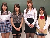 Sizzling hot group sex with Asian schoolgirls
