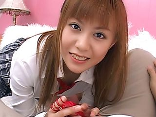 Hina Aizawa, naughty Asian schoolgirl in position 69