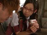 Alluring Tokyo schoolgirl spreads legs for fingering and fucking