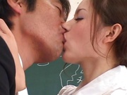 Hot babe fucked by teacher in the classroom