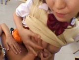 Naughty Asian chicks enjoying a big dick during class picture 11