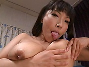 Sankihon Nozomi getting done with sex toys