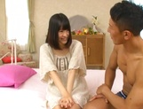 Karin Maizono Asian teen with tight shaved pussy craves for hardcore sex picture 8