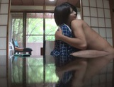 Short-haired Japanese teen girl gets her shaved pussy nailed picture 15