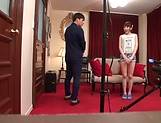 Ebina Rina has her shaved twat pleased well picture 8