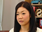 Japanese babe drilled hard after a good blowjob