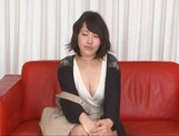 Asian MILF Anna Kishi sucks cock before getting it in her shaved cunt picture 12
